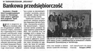 Bankowa przedsiebiorczosc Echo Dnia 2011-04-02