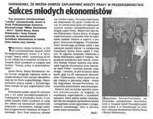 Sukces mlodych ekonomistow - Echo Dnia 2011-03-14 — kopia